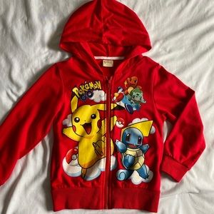 Other - kids Pokemon red zipper hoodie jacket